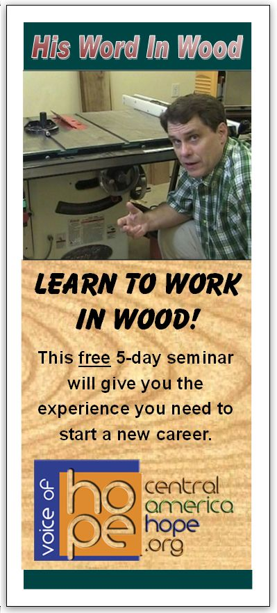 Nicaragua Woodworking Discipleship Seminar voice of hope missions teaching