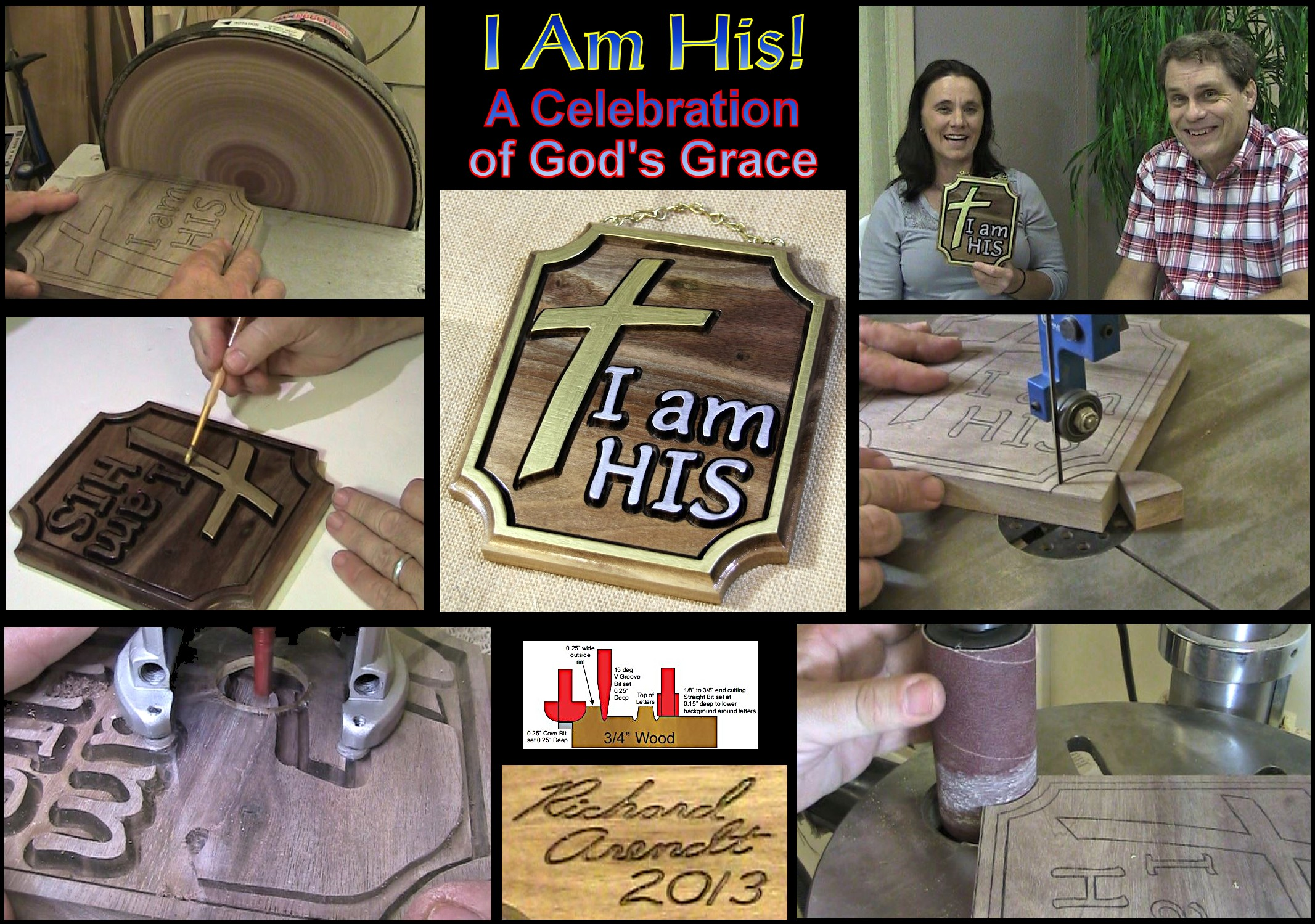 """I Am His"" A celebration of a life in walnut.  Freedom in Christ from addiction."