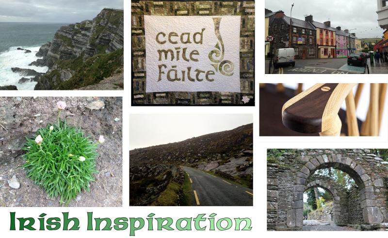 Irish Inspiration, bentwood lamination, chip carving, gaelic, quilting