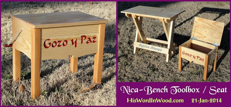 Free toolbox bench woodworking plan PDF teaching tablesaw dados