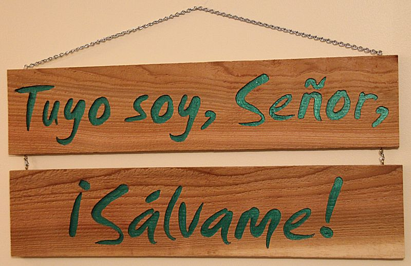 Psalm 119:94 Tuyo Soy Senor, Salvame tallas madera regalo Spanish wood carving