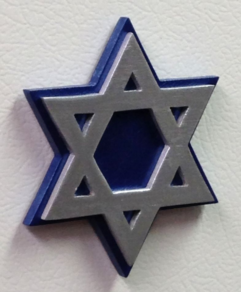 Star of David Refrigerator Rare Earth Magnet handmade wooden Jewish gift